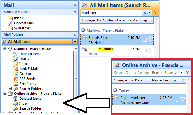 how to create mail archive in outlook 2010