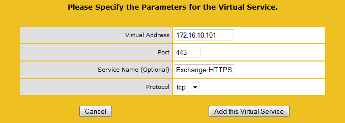 Load balancing Exchange 2010 using a KEMP Virtual LoadMaster