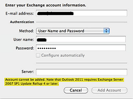 exchange server 2007 service pack 1 rollup 4 mac