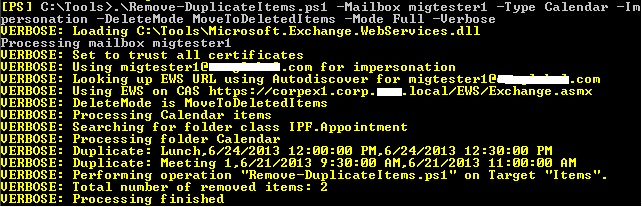 Removing Duplicate Items from a Mailbox | EighTwOne (821)