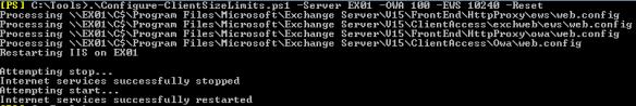 Configure Client Size Limits