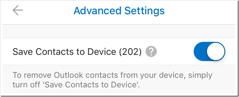 Outlook for iOS adds Contacts support | EighTwOne (821)