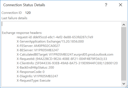 Outlook Connection Status Details   EighTwOne (821)